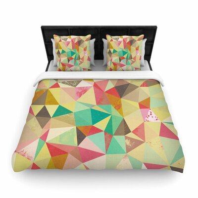 Nic Squirrell Shards Digital Woven Duvet Cover Size: King