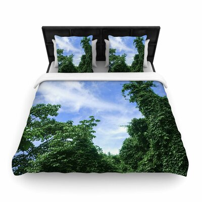 Nick Nareshni Forest in the Sky Photography Woven Duvet Cover Size: Full/Queen
