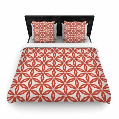 Nic Squirrell Stars in Circles Woven Duvet Cover Size: King