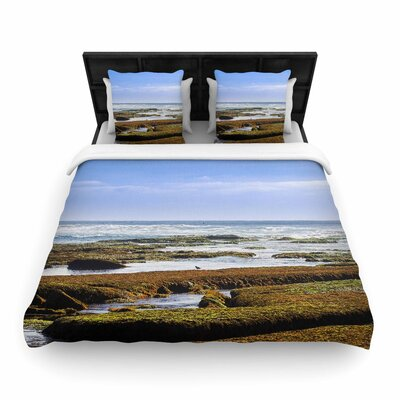Nick Nareshni Low Tide Reef Photography Woven Duvet Cover Size: Twin