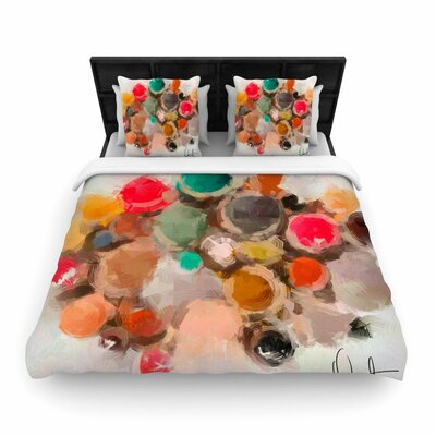 Oriana Cordero La Maddalena Abstract Woven Duvet Cover Size: Twin