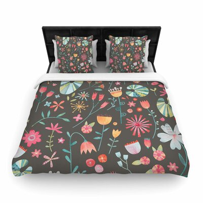 Nic Squirrell Wayside Flowers Floral Woven Duvet Cover Size: Full/Queen