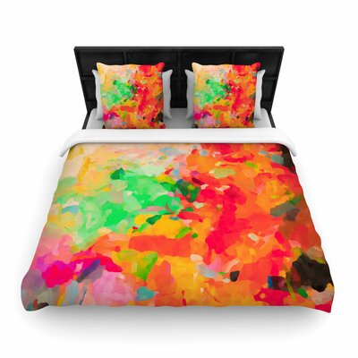 Oriana Cordero La Rochelle-Abstract Woven Duvet Cover Size: Twin