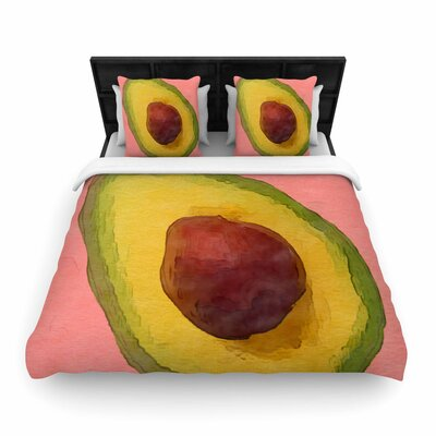 Oriana Cordero Avocado for Lola Woven Duvet Cover Size: King