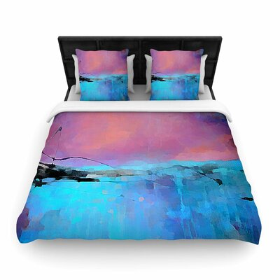 Oriana Cordero Versailles-Abstract Woven Duvet Cover Size: King