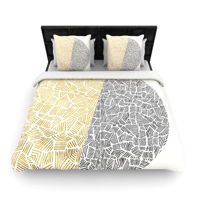 Pom Graphic Design Inca Day & Night Woven Duvet Cover Size: Twin