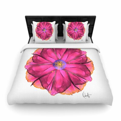 Oriana Cordero Athena-Flower Woven Duvet Cover Size: Full/Queen