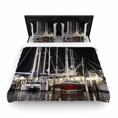 Philip Dinner Key Marina Coastal Woven Duvet Cover Size: Twin
