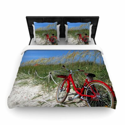 Philip Brown a Day at the Beach Woven Duvet Cover Size: Full/Queen