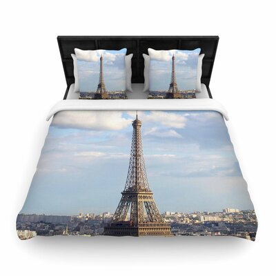 Philip Eiffel Tower Woven Duvet Cover Size: Twin