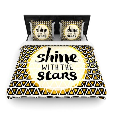 Pom Graphic Design Shine with the Stars Woven Duvet Cover Size: King