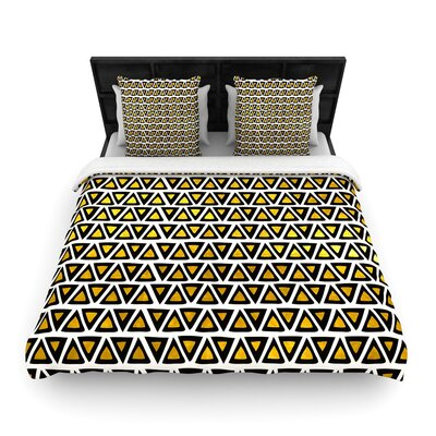 Pom Graphic Design Aztec Triangles Woven Duvet Cover Size: King
