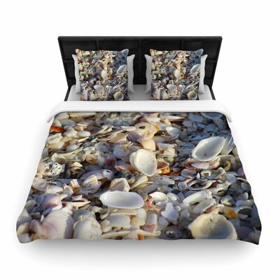Philip Brown Seashells on the Beach Nature Woven Duvet Cover Size: King