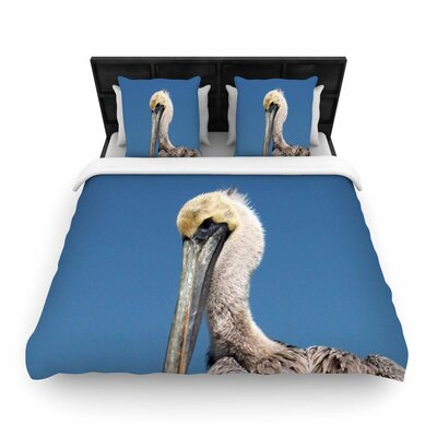Philip Brown Pelican Photography Woven Duvet Cover Size: Twin