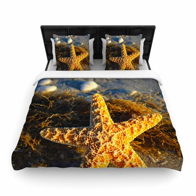 Philip Brown Starfish Woven Duvet Cover Size: Twin