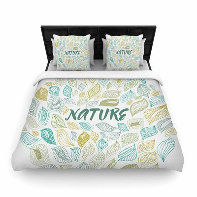 Pom Graphic Design Nature Earth Woven Duvet Cover Size: Twin