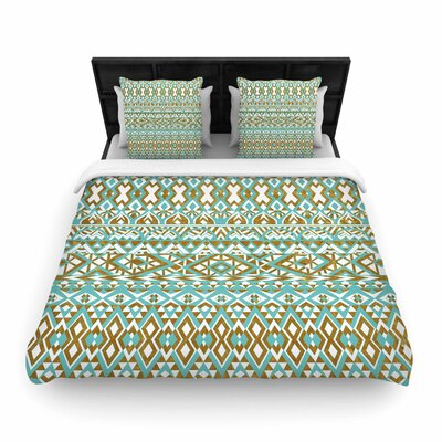 Pom Graphic Design Tribals Woven Duvet Cover Size: Full/Queen