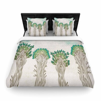 Pom Graphic Design Amazon Trees Nature Woven Duvet Cover Size: Twin