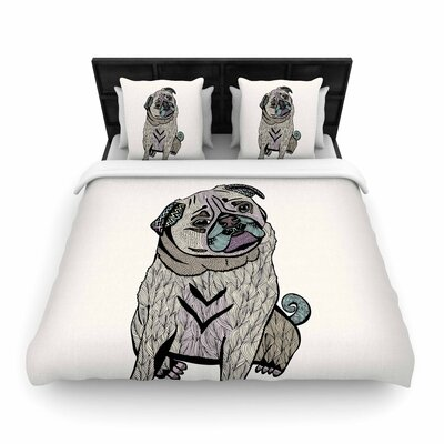 Pom Graphic Design Ares the Pug Woven Duvet Cover Size: King