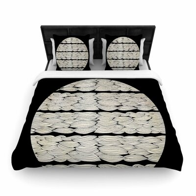 Pom Graphic Design La Luna Nature Illustration Woven Duvet Cover Size: Full/Queen