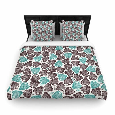 Pom Graphic Design the Barking Pug Woven Duvet Cover Size: Full/Queen