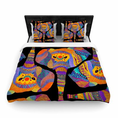 Pom Graphic Design The Elephant in the Room Rainbow Tribal Woven Duvet Cover