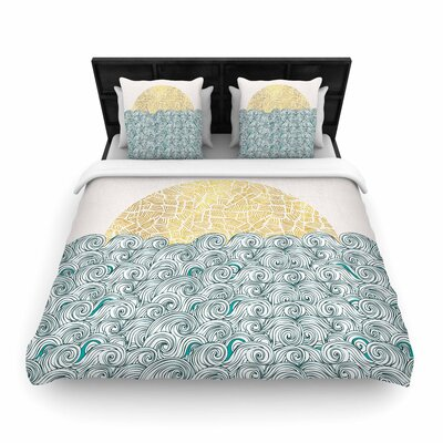 Pom Graphic Design Sunny Tribal Seas II Ocean Woven Duvet Cover Size: Twin