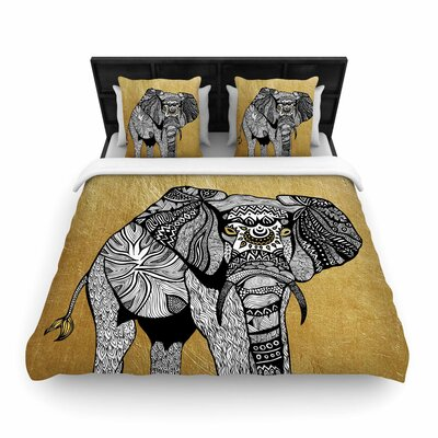 Pom Graphic Design Elephant Woven Duvet Cover Size: King