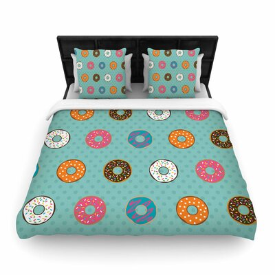 Juan Paolo Doughnut Brigade Food Woven Duvet Cover Size: Full/Queen