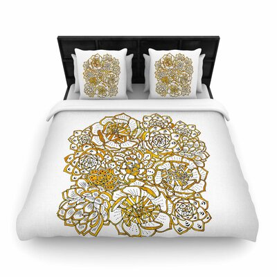 Pom Graphic Design Bohemian Succulents II Floral Woven Duvet Cover Size: King