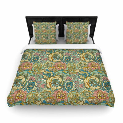 Pom Graphic Design Blooming Succulents Woven Duvet Cover Size: Twin