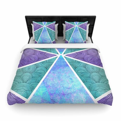 Pom Graphic Design Reflective Pyramids Woven Duvet Cover Size: King