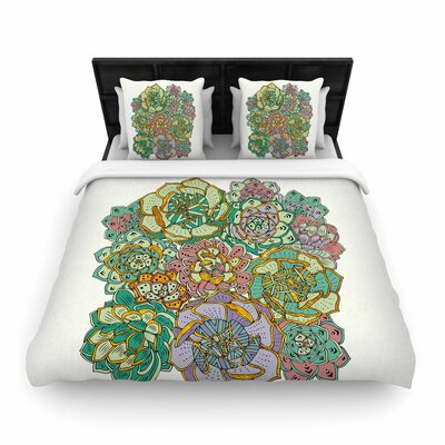Pom Graphic Design Succulent Love Woven Duvet Cover Size: Full/Queen