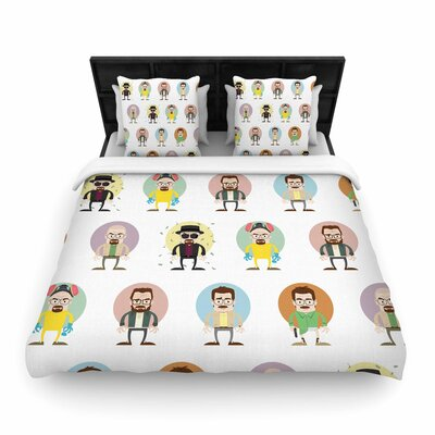 Juan Paolo the Stages of Walter White Breaking Bad Woven Duvet Cover Size: King