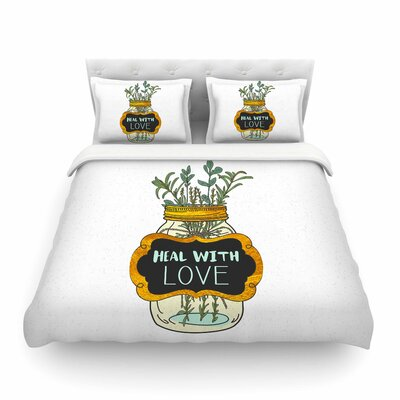 Pom Graphic Design Heal with Love Illustration Featherweight Duvet Cover Size: King