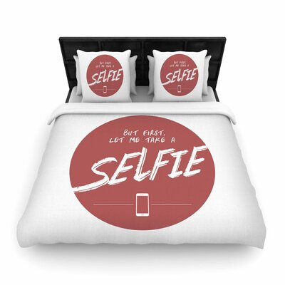 Juan Paolo Let Me Take a Selfie Woven Duvet Cover Size: Twin