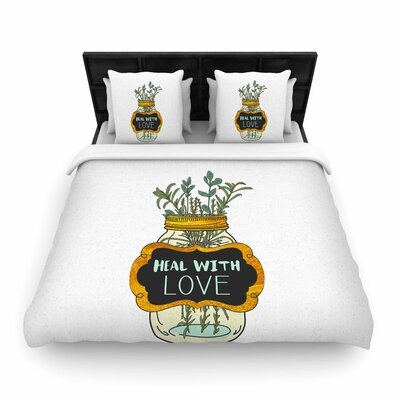 Pom Graphic Design Heal with Love Illustration Woven Duvet Cover Size: Full/Queen