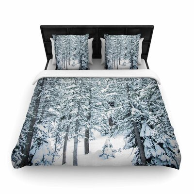 Juan Paolo Winter Trials Snow Woven Duvet Cover Size: King