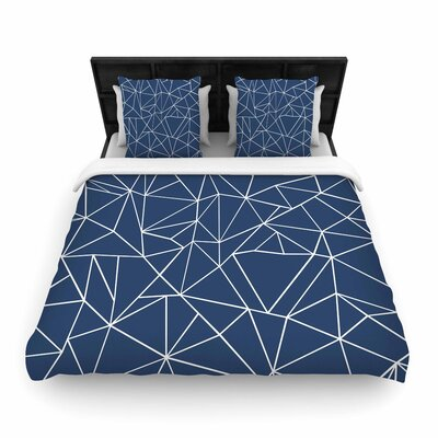 Project M Abstraction Outline Abstract Woven Duvet Cover Size: Twin