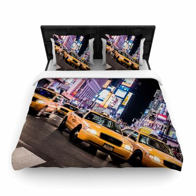 Juan Paolo Rush Hour Travel Urban Woven Duvet Cover Size: Twin