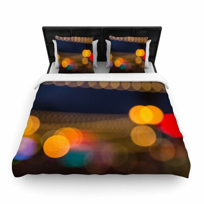 Juan Paolo Tremont Bokeh Urban Woven Duvet Cover Size: Full/Queen