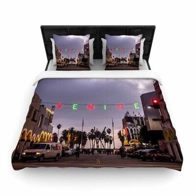 Juan Paolo Venice Christmas Holiday Photography Woven Duvet Cover Size: Full/Queen