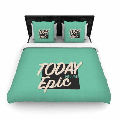 Juan Paolo Epic Day Vintage Woven Duvet Cover Size: Full/Queen