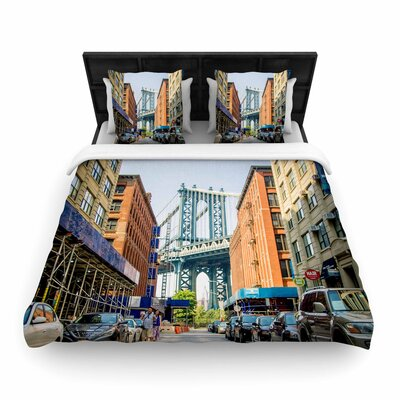 Juan Paolo Dumbo Urban Photography Woven Duvet Cover Size: Full/Queen
