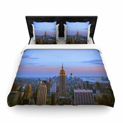 Juan Paolo Empire State of Mind Woven Duvet Cover Size: King