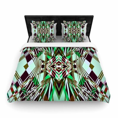 Pia Schneider Sweeping Line Pattern I-E4B Diamond Woven Duvet Cover Size: Full/Queen