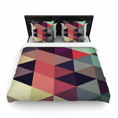 Juan Paolo Labyrinth Geometric Woven Duvet Cover Size: Full/Queen
