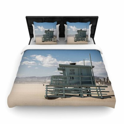 Juan Paolo No Lifeguard on Duty Woven Duvet Cover Size: Full/Queen