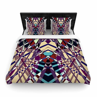 Pia Schneider Sweeping Line Pattern I-E Geometric Woven Duvet Cover Size: King