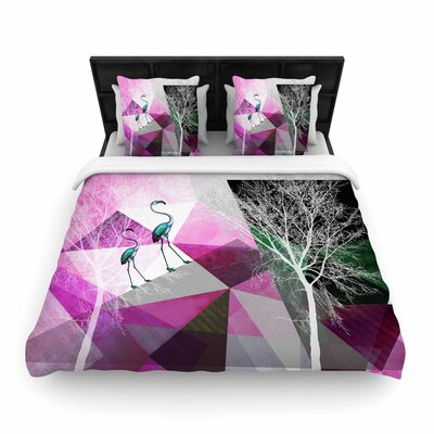 Pia Schneider Flamingo P22 Geometric Woven Duvet Cover Size: Full/Queen